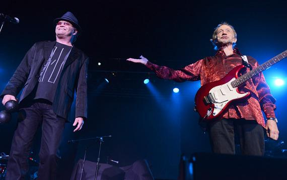 Micky Dolenz and Peter Tork of The Monkees