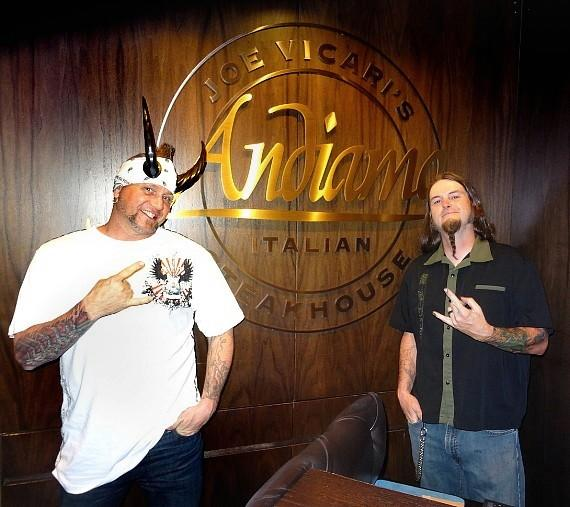 """Counting Cars"" stars Horny Mike and Ryan Evans at Andiamo Italian Steakhouse at the D Casino Hotel"