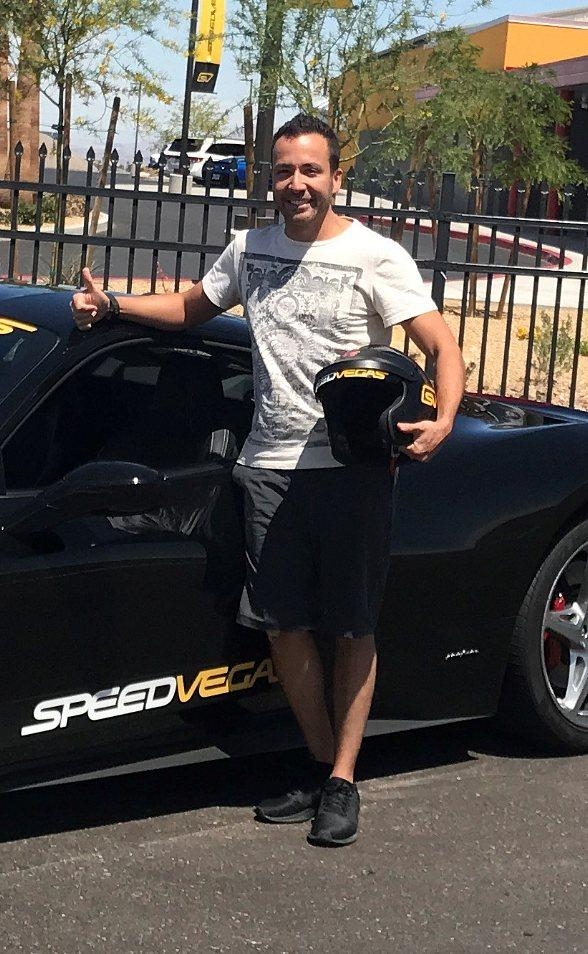 Howie D. of Backstreet Boys Drives Five Laps in a Ferrari 458 Italia at SPEEDVEGAS