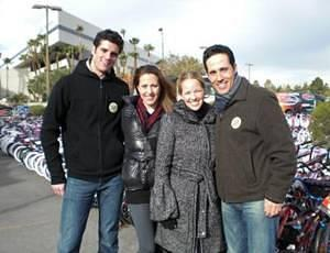 Peter Saide and Jeff Leibow of Jersey Boys with Courtney Combs and Kristen Hertzenberg of Phantom
