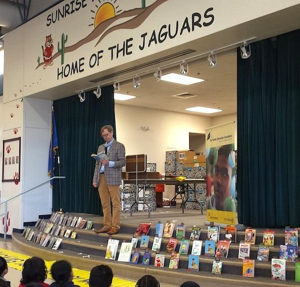 Mac King's Magical Literacy Tour Book Drive raises over 3,500 Books to Donate to four at-risk Elementary Schools during Nevada Reading Week 2016