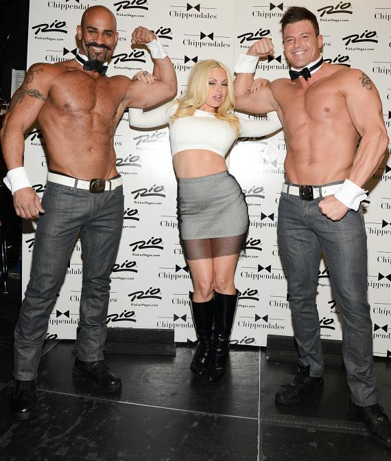 Jesse Jane visits Chippendales at The Rio in Las Vegas