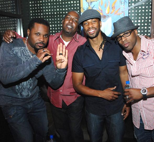 Malcolm Jamal Warner partying at Blush Boutique Nightclub
