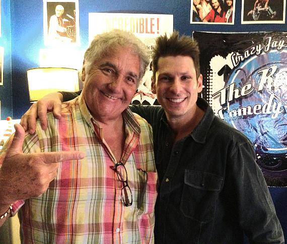 British comedian Lenny Windsor with Mike Hammer
