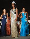 Miss Albania, reigning Miss Universe Leila Lopes and Miss Angola