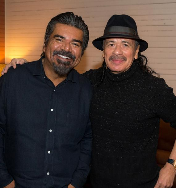 George Lopez and Carlos Santana at House of Blues Las Vegas