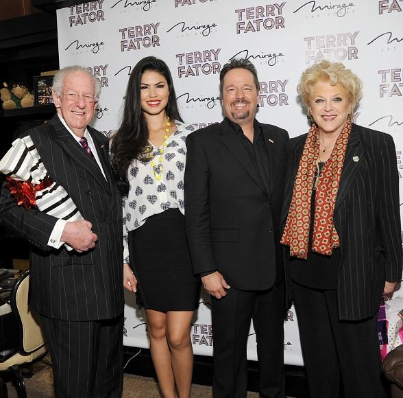 Former Mayor Oscar Goodman, Taylor Makakoa, Terry Fator and Mayor Carolyn Goodman