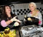 Holly Madison feeds the needy at Hard Rock Cafe in Las Vegas