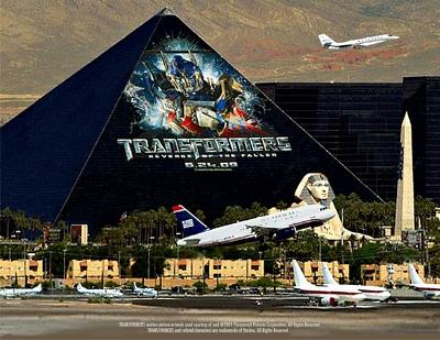 Transformers on Luxor Hotel in Las Vegas