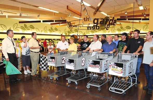 Smith's 350 Press Conference and Shopping Cart Race