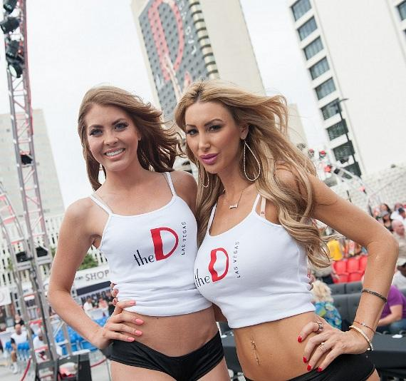 "Ring Girls at ""Knockout Night at the D"" in Las Vegas"
