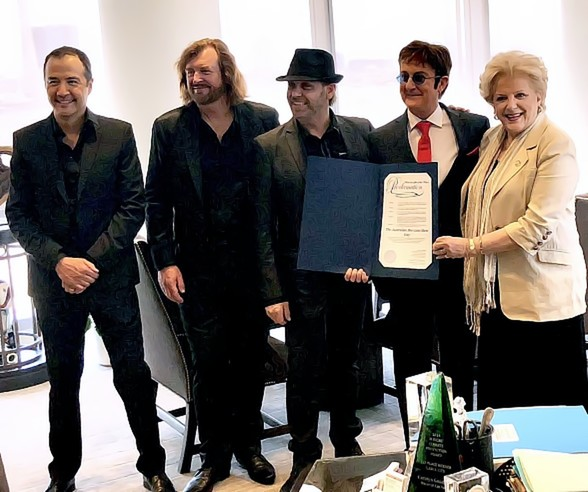 "Mayor Goodman Proclaims ""The Australian Bee Gees Show Day"""