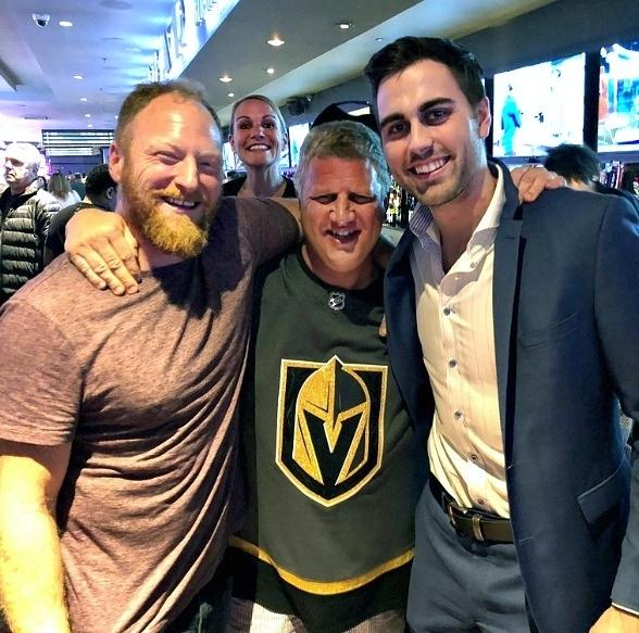 Vegas Golden Knight Alex Tuch Dines With Family at Andiamo Italian Steakhouse