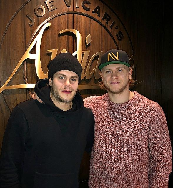 Vegas Golden Knight, William Karlsson, Dines at Andiamo With Hockey Friends