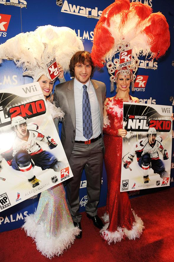 Alex Ovechkin of the Washington Capitals is cover athlete and spokesman for the next iteration of the popular NHL 2K franchise, NHL 2K10.