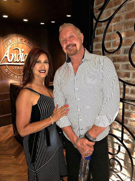 WWE Dallas Page and his wife Brenda Nair at Andiamo Las Vegas