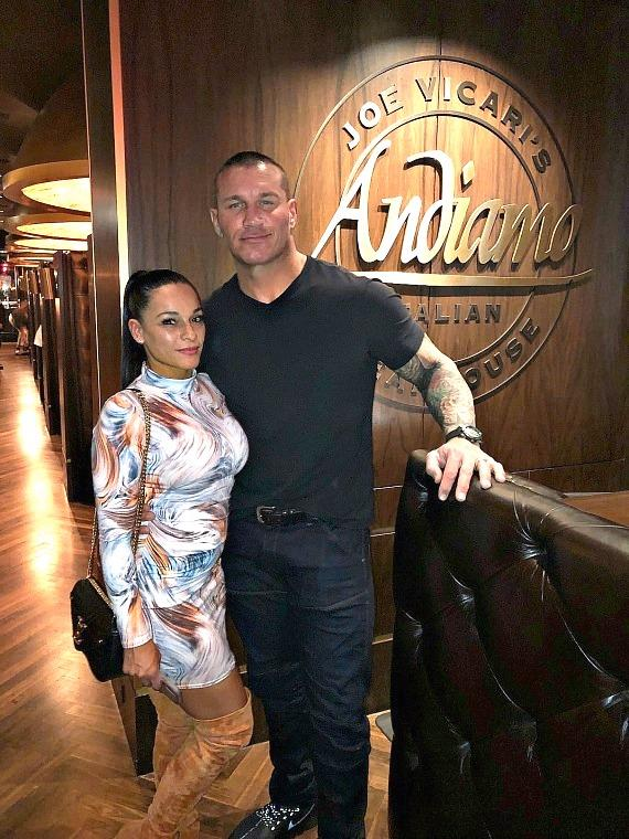 WWE Randy Orton and wife Kim Orton at Andiamo Italian Steakhouse Las Vegas