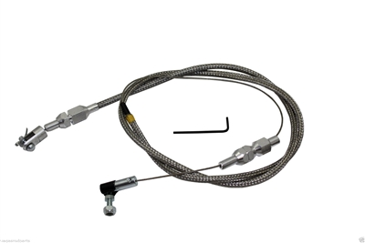 Stainless Steel Throttle Cable Universal Chevy GM Ford
