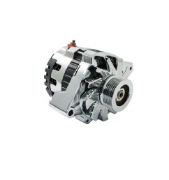 universal gm chevy serpentine high output chrome alternator 160 amp cucv alternator wiring gm 160 amp alternator wiring [ 1200 x 1200 Pixel ]