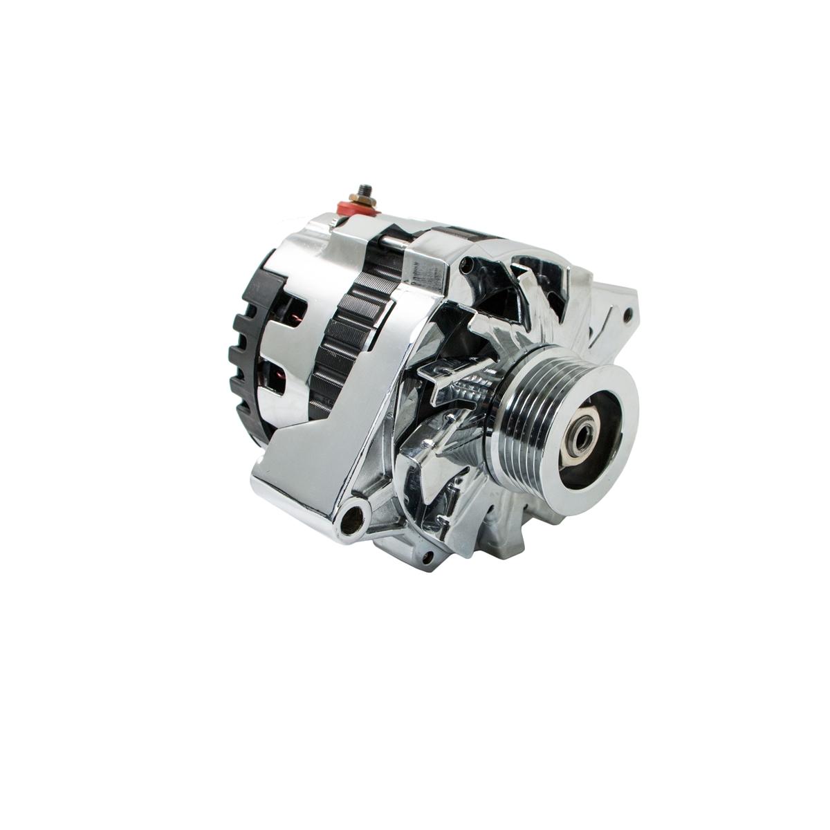 hight resolution of universal gm chevy serpentine high output chrome alternator 160 amp 1 wire cs130