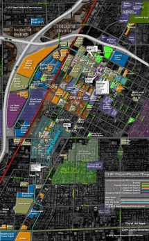 Downtown Map Vegas Bright - Year of Clean Water on