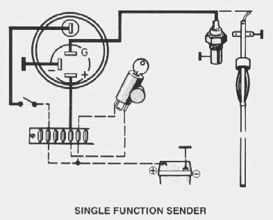 vdo temperature gauge wiring diagram guitar rig performance instruments oil no light