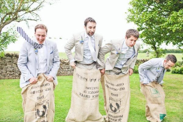 Potato sack game. One-of-a-Kind Wedding