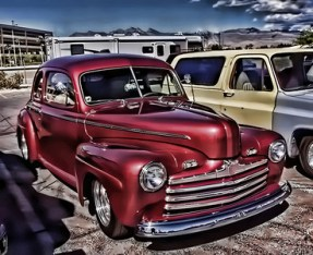 An old forties vintage vehicle