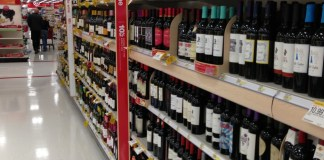 Wine Aisle at a California Target