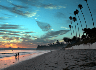 Butterfly Beach in Santa Barbara