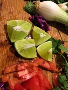 Veggies for Tacos de Lengua