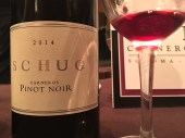 Schug, with one of the Pinots from the seminar