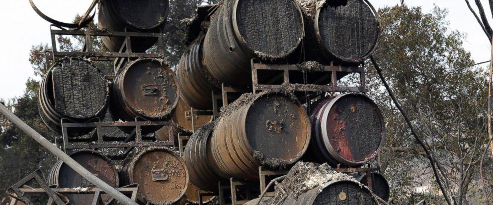 Paradise Ridge burned barrels.