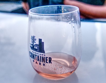 Container Park Wine Glass