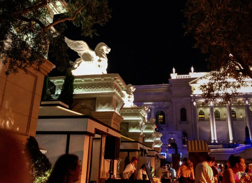 Nighttime at Vegas Uncork'd at Caesar's