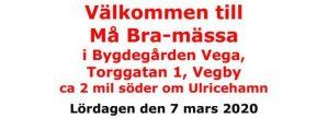 Må bra-mässa i Vegby våren 2020 @ Bygdegården Vega i Vegby