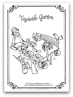 Free Vegetable Garden Coloring Books, Printable Activity