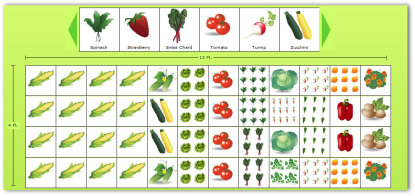 4x12 sample vegetable garden plan