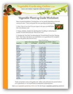 Download vegetable garden planting guide also zone chart free worksheets rh gardening online