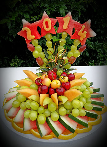 New Year Fruit Carvings  Nitas Fruit Vegetable Carving