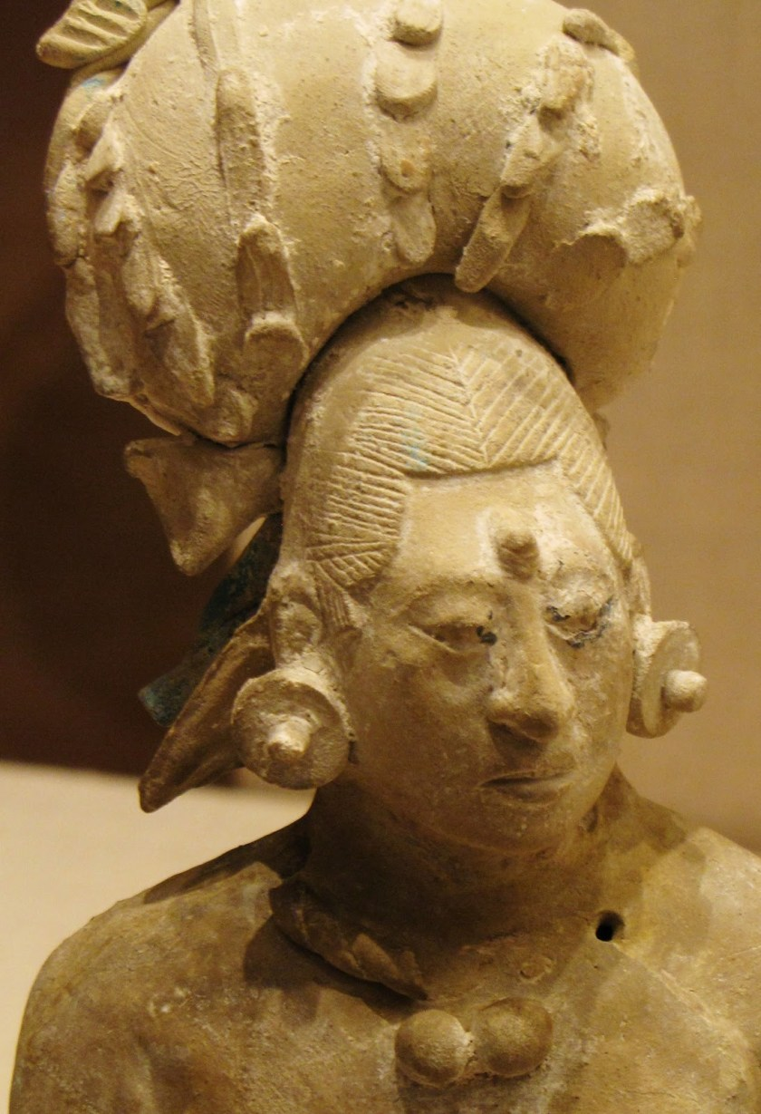 Figurine of an Aristocratic Lady, ceramic and pigment, 650/800 CE, Late Classic Maya, Jaina; Campeche or Yucatán, Mexico