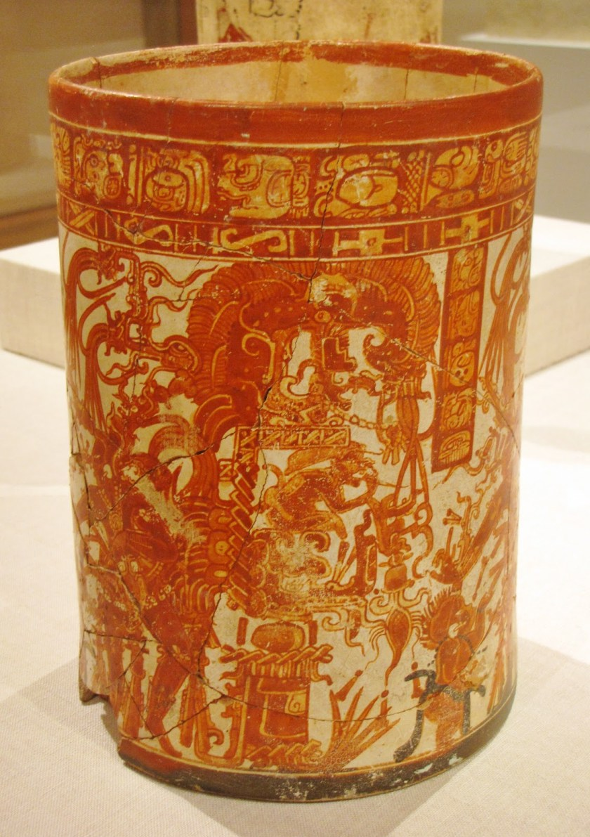 Vessel of the Dancing Lords, Ah Maxam (active mid-late 8th century), ceramic and pigment, 750/800 CE, Late Classic Maya; vicinity of Naranjo, Petén region, Guatemala
