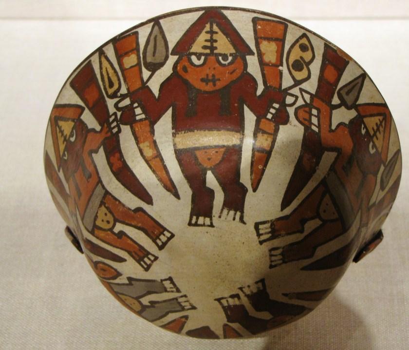 Bowl Depicting a Harvest Dance, ceramic and pigment, 180 BCE/500 CE, Nazca; South coast, Peru