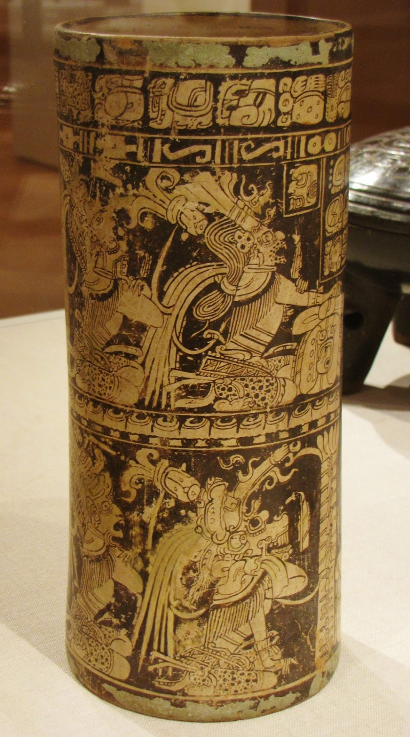 Vase of Seven Gods, Ah Maxam (active mid-late 8th century), ceramic and pigment, 750/800 CE, Late Classic Maya; vicinity of Naranjo, Petén region, Guatemala