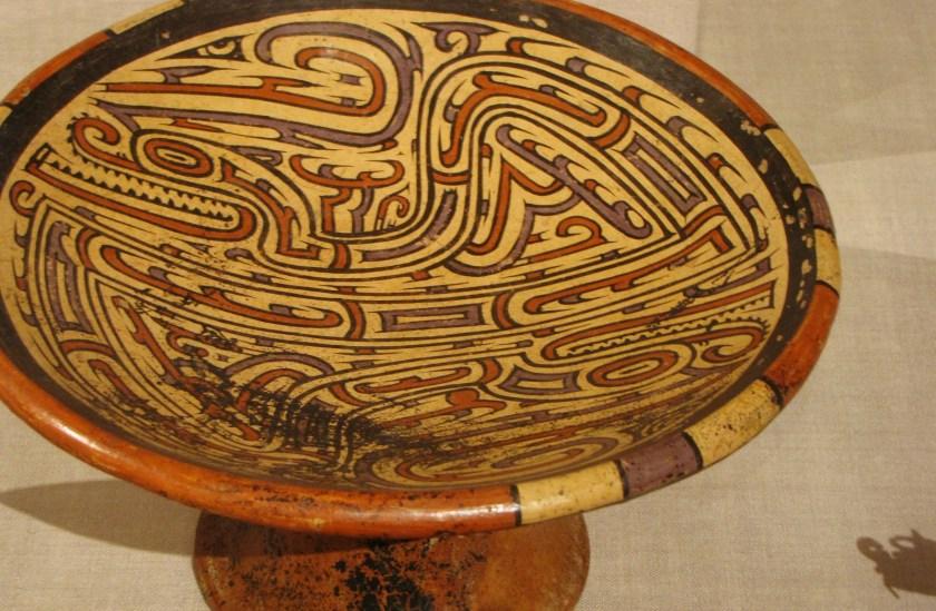 Pedestal Bowl, ceramic and pigment, 700/1100 CE, Coclé; possibly Los Santos province, Panama