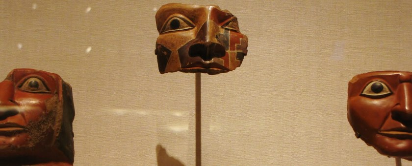 Head Fragments from Large Ceremonial Jars, ceramic and pigment, 700/800 CE, Tiwanaku-Wari; Pacheco, south coast, Peru