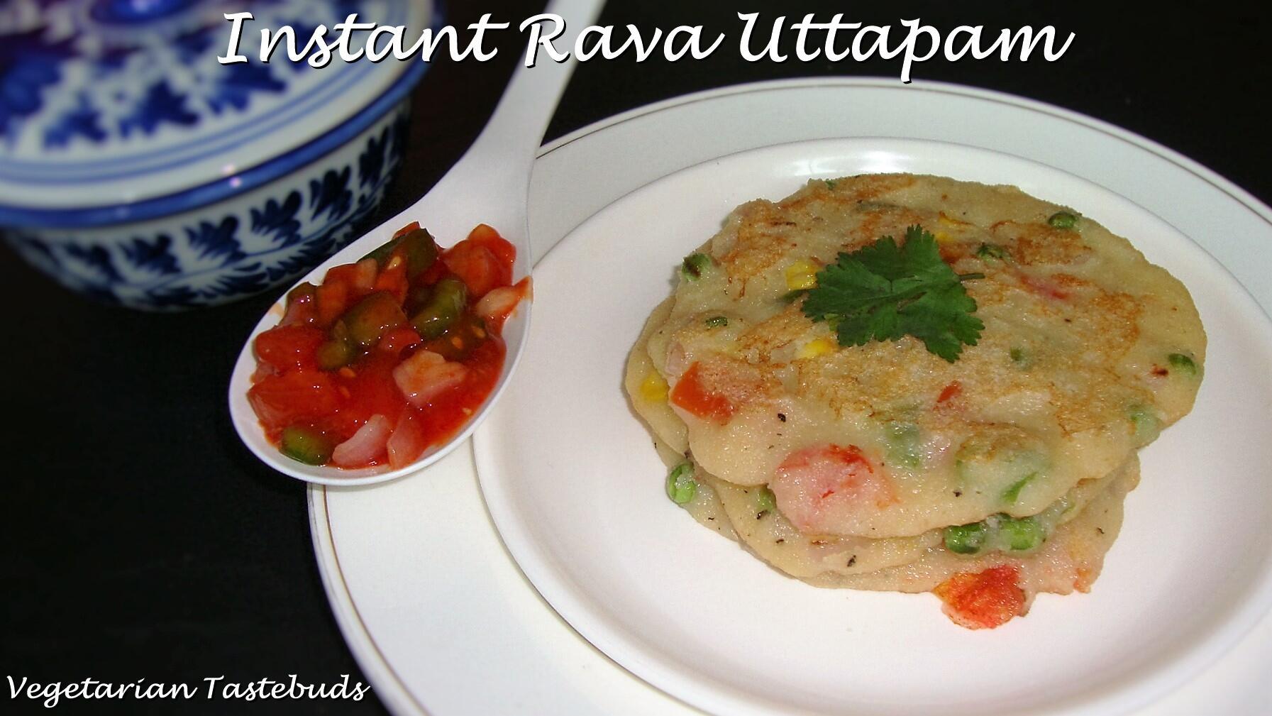 Instant uttapam recipe instant rava uttappa recipe instant sooji uttapam