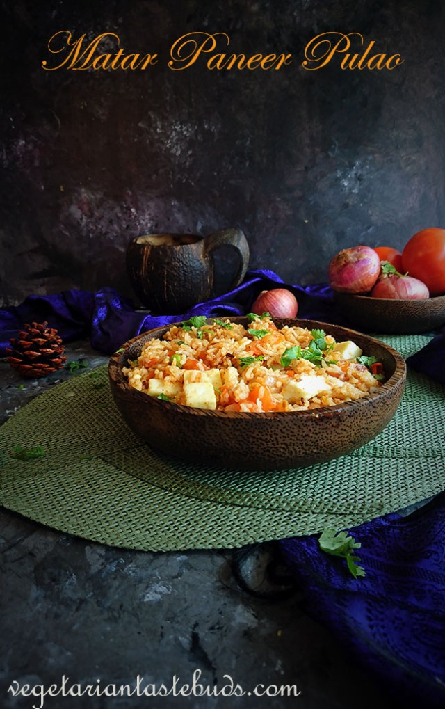 Matar Paneer Pulao | Peas and Paneer Pulav Recipe