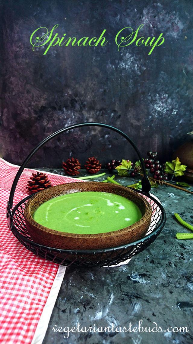 Spinach Soup   Palak Soup