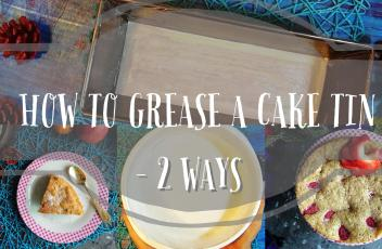 how to grease a cake tin